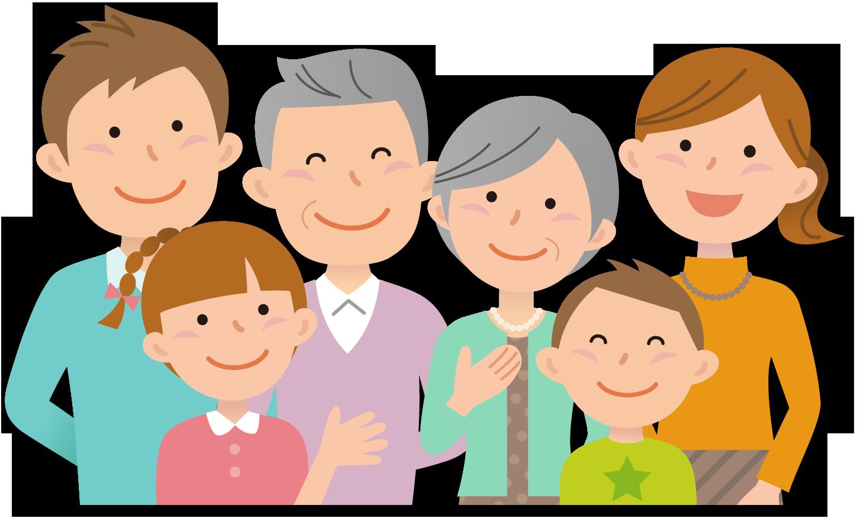 元気な家族のイラスト